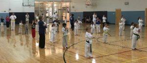 Kinney Karate class