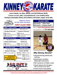 Kinney Karate Class Flyer
