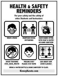 Kinney Karate Health & Safety Poster